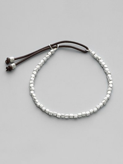 Catherine Michiels Sterling Silver Bead Bracelet