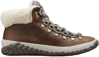 Sorel Out N About Faux Shearling Lined Leather Ankle Boots