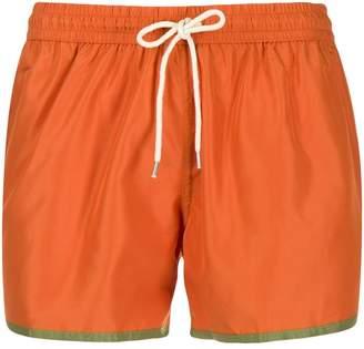 Nos Beachwear contrast trim swim shorts