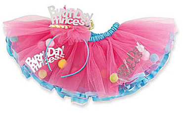 Mud Pie Baby Girls Birthday Princess Headband & Tutu Set