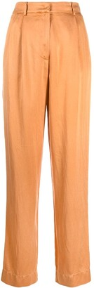 Forte Forte satin high-waist trousers
