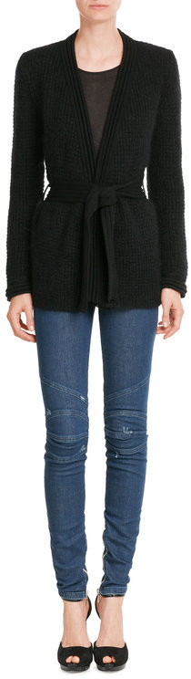 Balmain Balmain Mohair-Wool Tailored Cardigan