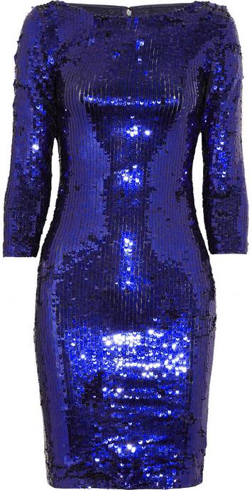 Alice + Olivia Karmel sequined mesh dress