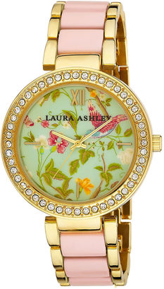 Laura Ashley Ladies Pink Summer Duck Egg Dial Watch La31007Pk $395 thestylecure.com