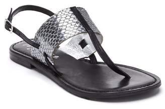 Matisse Valenti Snake Print Leather Sandal
