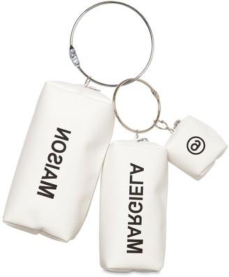 MM6 MAISON MARGIELA (エムエム6 メゾン マルジェラ) - MM6 MAISON MARGIELA ロゴプリントテクノポーチ 3個組