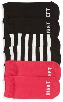 Kate Spade 3-Pack Right Left No-Show Socks