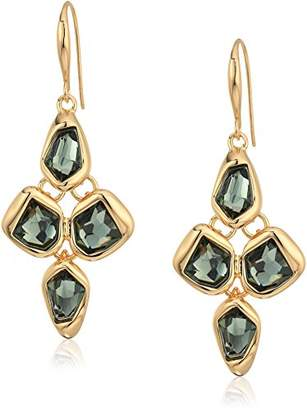 Robert Lee Morris The Bigger Stone Faceted and Gold Drop Earrings