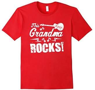 N. This Grandma Rocks T Shirt - Guitar Rock Roll Funny Tee