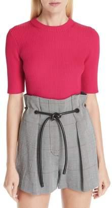 3.1 Phillip Lim Ribbed Short Sleeve Sweater