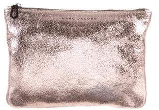 Marc Jacobs Metallic Leather Zip Pouch