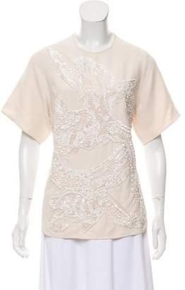 Elie Saab Short Sleeve Embellished Top