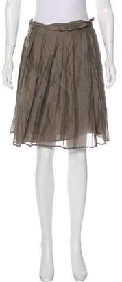Burberry Pleated Knee-Length Skirt