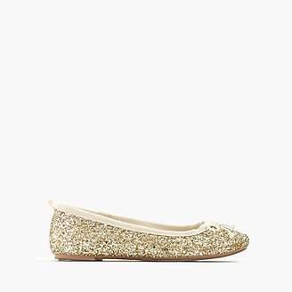 J.Crew Girls' classic glitter ballet flats