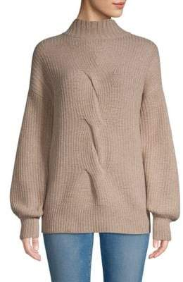 Saks Fifth Avenue BLACK Cable-Knit Wool-Blend Sweater