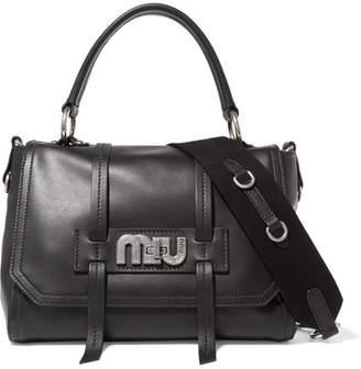 Miu Miu Grace Leather Shoulder Bag - Black