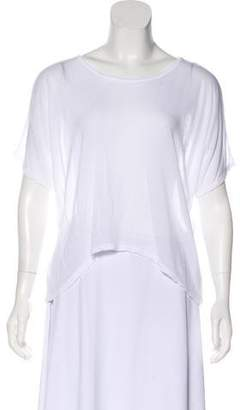 Kimberly Ovitz High-Low Short Sleeve Top