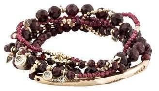Kendra Scott Garnet, Pyrite & Crystal Supak Beaded Bracelet Set