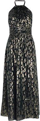 Karen Millen Metallic Halterneck Dress