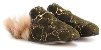 Gucci Princetown velvet slippers