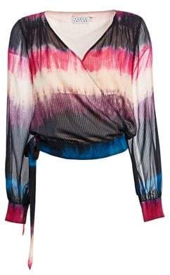 Tanya Taylor Klara Silk Wrap Top