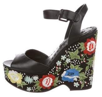 Alice + Olivia Platform Wedge Sandals