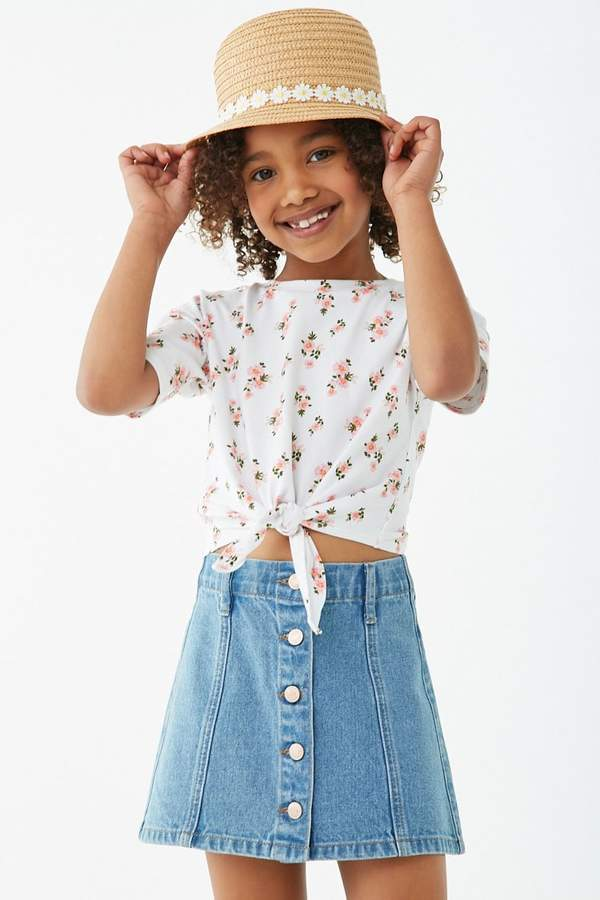 Forever 21 Girls Denim A-Line Skirt (Kids)