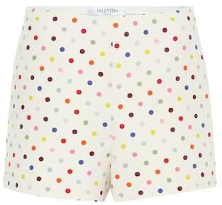 Valentino Polka-dot wool and silk shorts