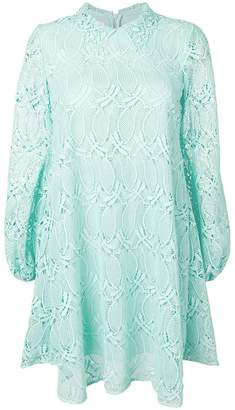 Giamba flared lace dress