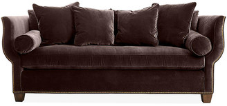 Hickory White Missy Sofa - Chocolate Velvet
