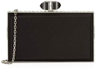 Judith Leiber Satin Coffered Rectangle Clutch
