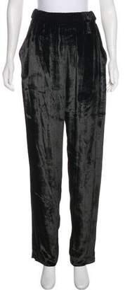 Sally LaPointe High-Rise Velvet Pants
