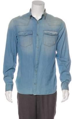 Pierre Balmain Distressed Chambray Shirt