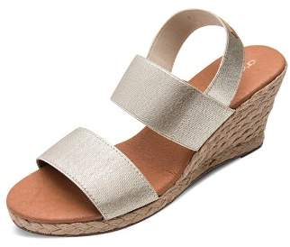 Andre Assous Women's Allison Stretch Strap Mid Wedge Espadrille Sandals