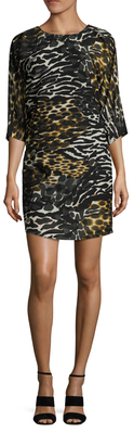 Naideen Print Shift Dress $348 thestylecure.com