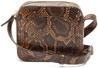A.P.C. Louisette Python Print Leather Cross Body Bag - Womens - Python