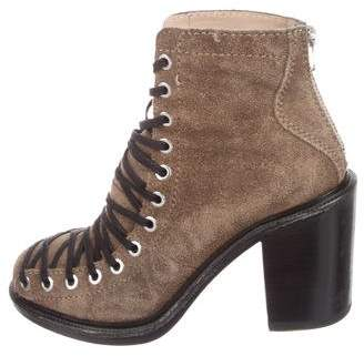 Elizabeth and James Suede Lace-Up Booties