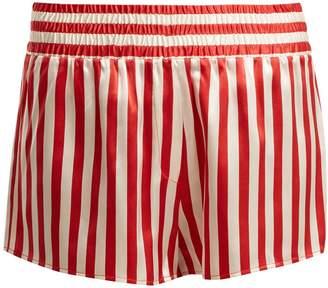 MORGAN LANE Corey striped silk pyjama shorts