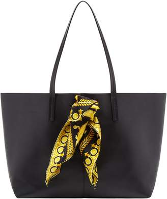 Versace Tribute Baroque Scarf Leather Tote