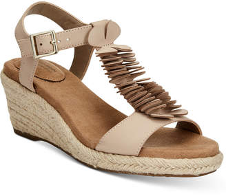 Giani Bernini Sallee Memory Foam Platform Espadrille Wedge Sandals, Created for Macy's Women's Shoes