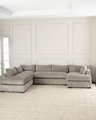 Old Hickory Tannery Mitchell Upholstered Sectional Sofa (Left Facing)