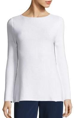 Piazza Sempione Cotton A-Line Rib-Knit Tunic