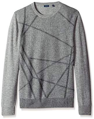 Thirty Five Kent Men's Intarsia Cashmere Crew Neck Sweater