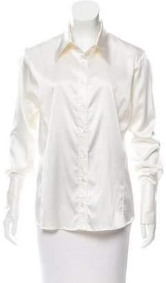 Amina Rubinacci Silk-Blend Tailored Blouse