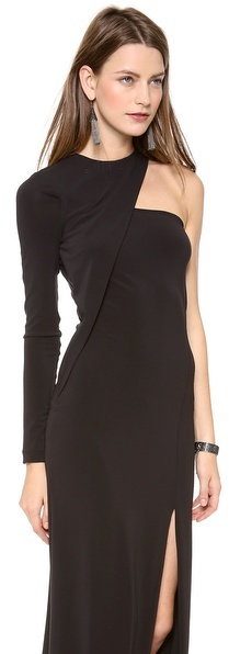 Yigal Azrouel Cut25 by One Shoulder Long Sleeve Gown