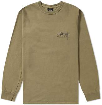 81679600 Stussy Long Sleeve Modern Age Pigment Dyed Tee