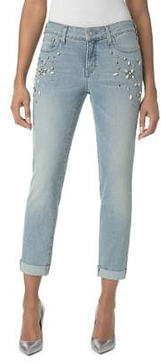 NYDJ Embellished Roll-Cuff Boyfriend Jeans in Westland