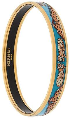 Hermes Pre-Owned leopard pattern bangle