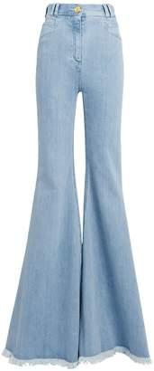 Balmain Frayed Hem Flare Jeans