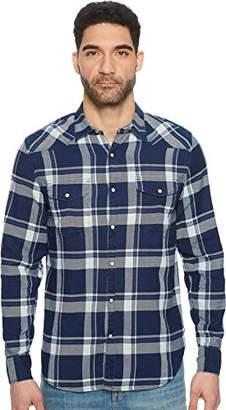 Lucky Brand Men's Casual Long Sleeve Plaid Western Button Down Shirt in Indigo